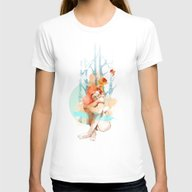 Lonely Womens Fitted Tee White SMALL