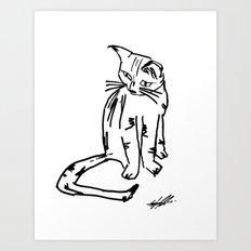 Alien Cat Art Print
