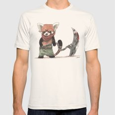 Panda Roux Barbare Mens Fitted Tee Natural SMALL