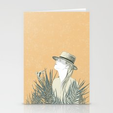 The woman and the bird Stationery Cards