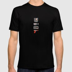 8-BIT Retro Console & Game Mens Fitted Tee Black SMALL