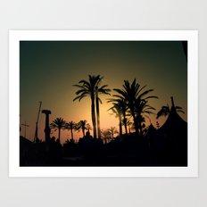Pier sunset Art Print