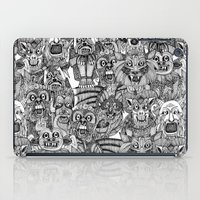 gargoyles black white iPad Case
