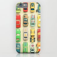 yellow iPhone & iPod Cases featuring Car Park by Cassia Beck