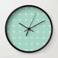 Mint Cross // Mint Plus … Wall Clock