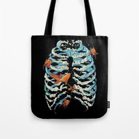 Tote Bag featuring FISH BONE  by Huebucket