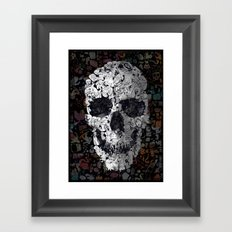 Doodle Skull Framed Art Print