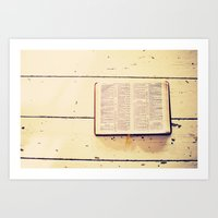 Reading The Psalms Art Print