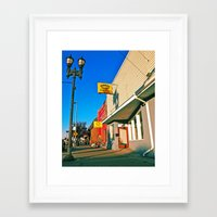 Framed Art Print featuring Local pawn shop by Vorona Photography