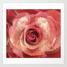 La Virgen de Guadalupe series: Worship of the Rose Art Print