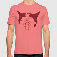 Cat Attack Mens Fitted Tee Pomegranate SMALL
