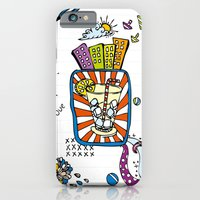 iPhone & iPod Case featuring Summer Doodle by Duru Eksioglu