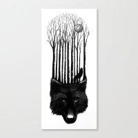 Wolf Barcode Canvas Print
