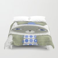 BLUE ADORNMENTS Duvet Cover