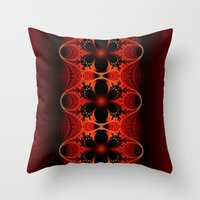 Floral Ribbon Throw Pillow