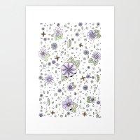 Violetas Art Print