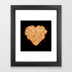 Wounded heart Framed Art Print