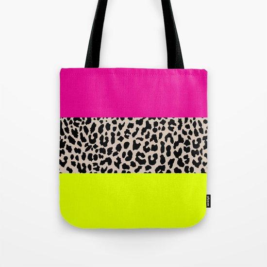 Leopard National Flag X Tote Bag