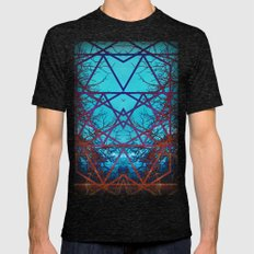 Neurons Mens Fitted Tee Tri-Black SMALL