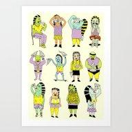 KIDS AND PIZZA Art Print