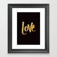 Love Handwritten Type Framed Art Print