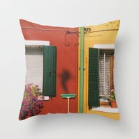 Clean Color Throw Pillow