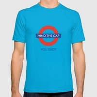 Mind The Gap Mens Fitted Tee Teal SMALL