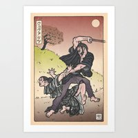 Wolverine Japanese style Art Print
