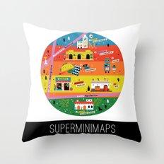 Minimap Ciudad de México by Victoria Fernández Throw Pillow