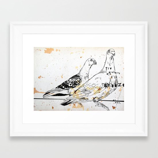 Bird flu Framed Art Print