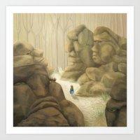Valley Of The Rock Men Art Print