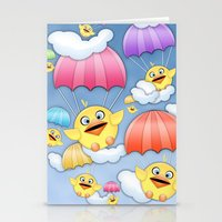 In Coming Birdies.  Stationery Cards