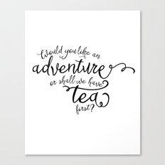 Adventure or tea Canvas Print