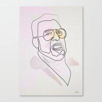 One Line Big Lebowski: W… Canvas Print