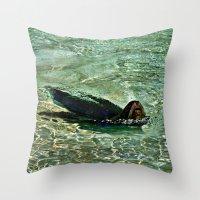 SEA LION in AQUATIC DREAMING WORLD  Throw Pillow