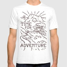 Time For Adventure SMALL White Mens Fitted Tee