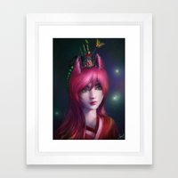 Nine tailed fox  Framed Art Print