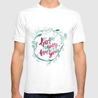 For You, For You Mens Fitted Tee White SMALL