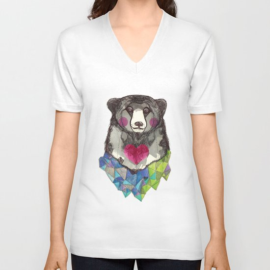 Bear yeah V-neck T-shirt