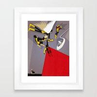 High X-Marks Framed Art Print