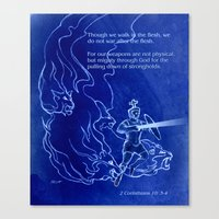 Warrior 3 With Heavenly Host Canvas Print