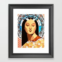 Santa Pagana Framed Art Print