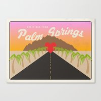 GREETINGS FROM PALM SPRINGS Canvas Print