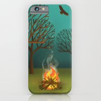 iPhone & iPod Case featuring Fireside by Jenny Tiffany