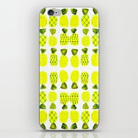 Modern Pineapples Painting iPhone & iPod Skin