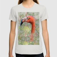 Red Big Bird Womens Fitted Tee Silver SMALL