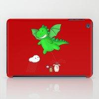 Godzilla rains first! iPad Case