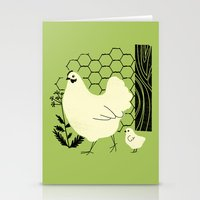 Hen and chick Stationery Cards
