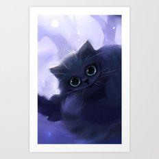 Chess Cat Art Print