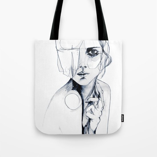Sketch V Tote Bag